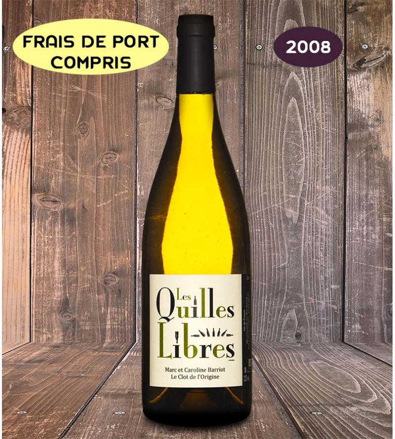 Les Quilles Libres 75 cl millésime 2008 - Clot de l'Origine - Marc et Caroline