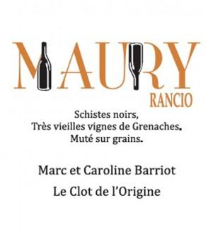 Le Maury blanc Rancio AOP - Clot de l'Origine - Marc et Caroline BARRIOT Maury